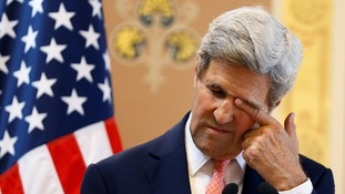 Kerry looked like he was feeling the strain too.