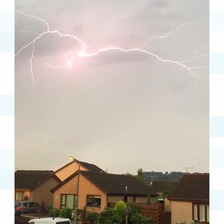 Lightning over Dumfries.