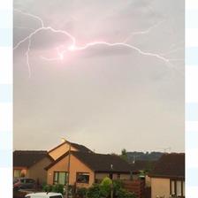 Lightning over Dumfries.