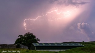 Lightning over Newton Stewart.
