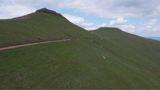 The Brecon Beacons near where a soldier died on Tuesday