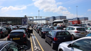 Dover ferry passengers warned of three-hour passport control wait