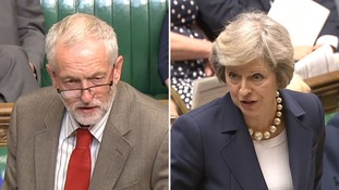 Theresa May and Jeremy Corbyn faced off for the first time at PMQs.