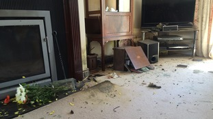 The interior of the house was damaged by the fire.