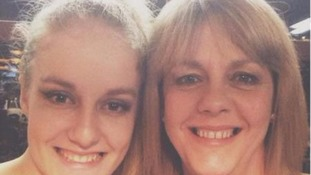 Charlotte Hart (left) and her mum Claire (right).