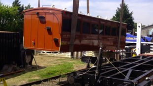 Victorian carriage back on track at Mid Suffolk Light Railway