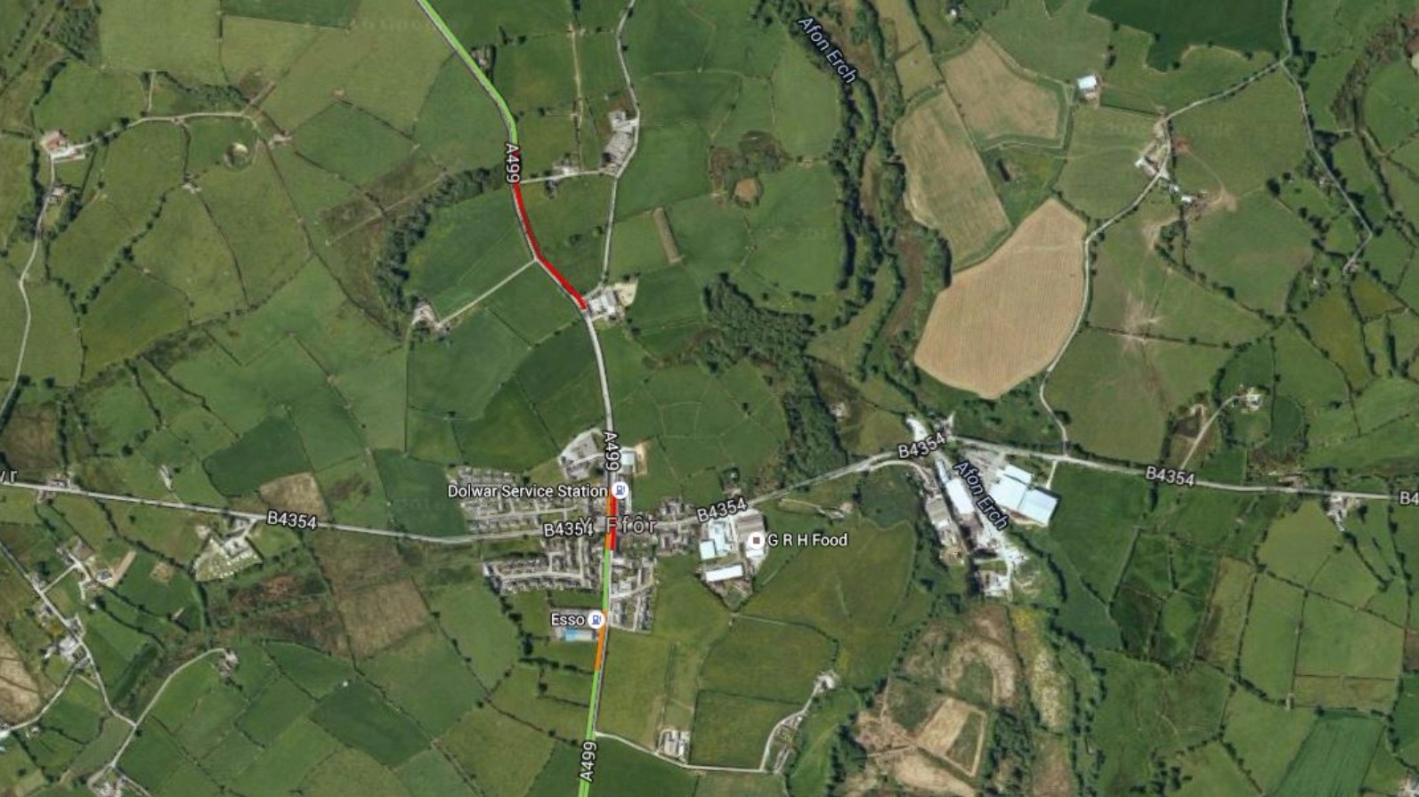 Road Closed After Serious Accident Near Pwllheli Wales