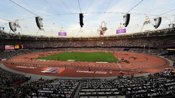 London's Olympic Stadium.