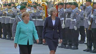 Ms Merkel turned 62 a few days before Ms May's visit