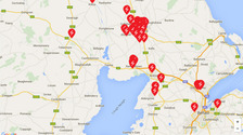 Power cut map