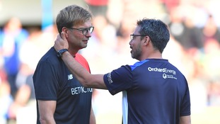 Klopp and Wagner share a moment during the pre-season fixture