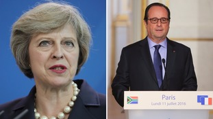 Theresa May to discuss Brexit with Francois Hollande in Paris
