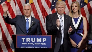 Mike Pence (left) with Donald Trump.