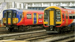 File photo: South West trains at Clapham junction