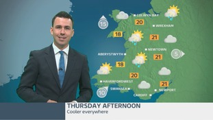 Wales weather: Some scattered showers, feeling fresher