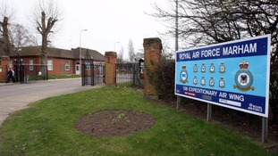 Serviceman threatened with knife at RAF base