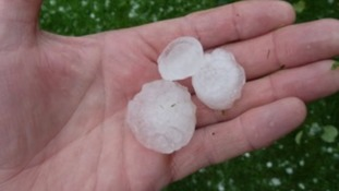 The hailstones.