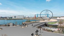 Artist's impressions of the proposed Middlehaven Dock bridge.