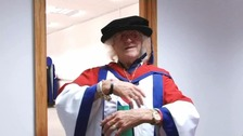 Jimmy Savile at the University of Bedfordshire in 2009