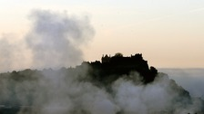 Stirling Castle surrounded in early morning mist last week.