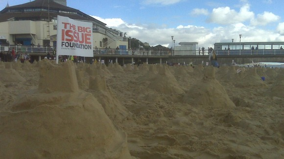 Sandcastles in Bournemouth