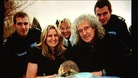 Brian May & hedgehog, wildlife group