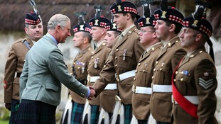 The Prince of Wales presents an Operational Service Medal