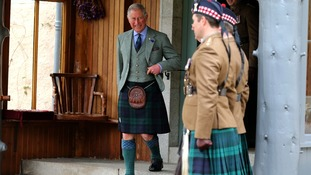 The Prince of Wales in the grounds of Birkhall in Ballater, Aberdeenshire