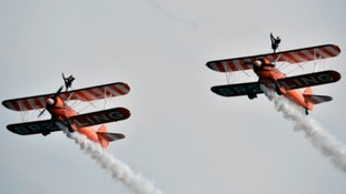 Wing walkers at the Airshow in 2014