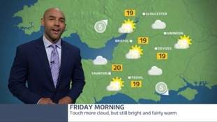 Sunshine and showers brings the week to a close
