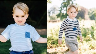 The pictures have been released to celebrate George's third birthday.
