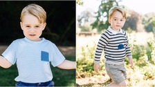 Photos released to celebrate Prince George's third birthday