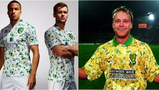 Norwich City's new third kit is based on their famous 90s strip.