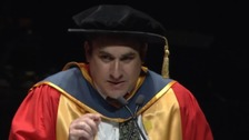 Josh Weinstein received an honorary doctorate at the University of Salford