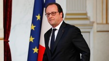 President Francois Hollande made the announcement on Friday.