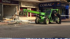 Ram raiders steal cash machine in early morning raid