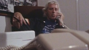 Jimmy Savile in his office