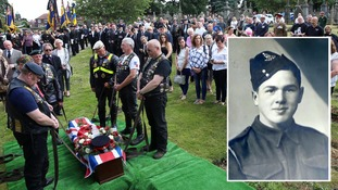 Crowds turn up for funeral of WWII veteran who died alone after social media appeal