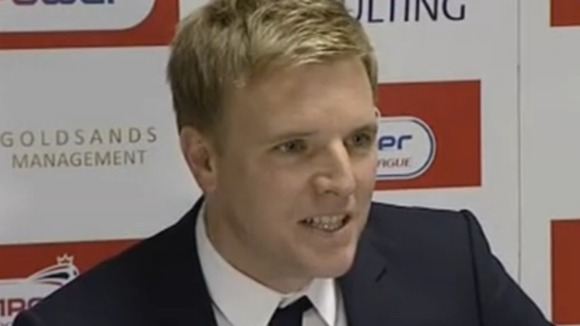 Eddie Howe at press conference