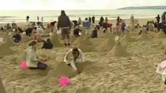 World record sandcastle builders