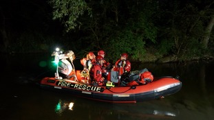 Crews were out searching for the body in the River Ouse last night.