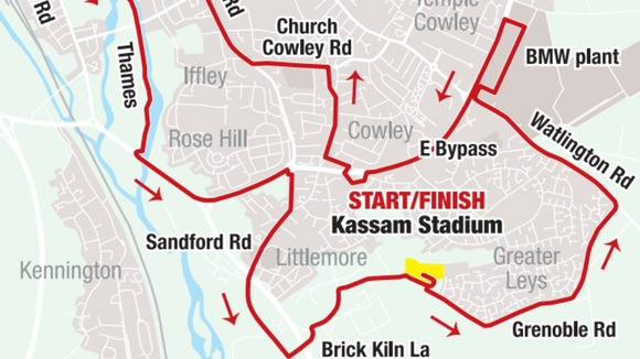 Oxford Half Marathon route