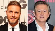 X Factor judges Gary Barlow and Louis Walsh.