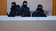 Special forces police stand guard in Munich