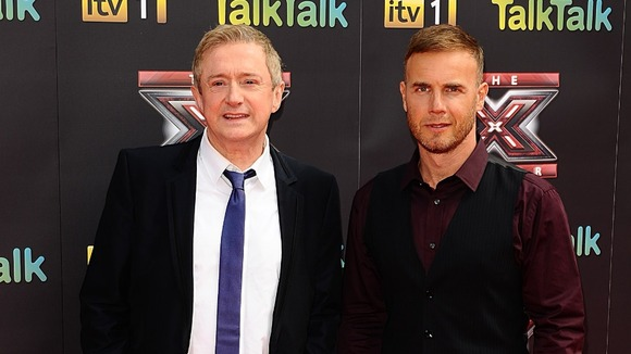 The X Factor judges Louis Walsh and Gary Barlow pictured together in 2011.