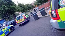 Man in 20s taken to hospital after being stabbed