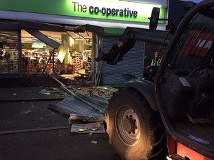 A 4x4 truck was used to take the ATM