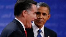   Republican Presidential nominee Mitt Romney goes head-to-head against President Obama on the debating floor again on Tuesday.