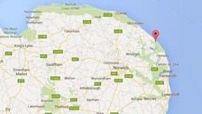 Two men pulled unconscious from the sea on Norfolk beach