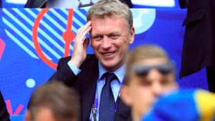 David Moyes in the stands during the UEFA Euro 2016